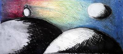 Love Poem Drawing - Silencio -  Silence by Juan Jimenez