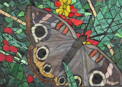 Wall Art - Glass Art - Silent Beauty by Linda Pieroth Smith