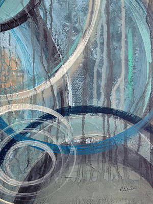 Drips Painting - Silent Drizzle II by Ruth Palmer