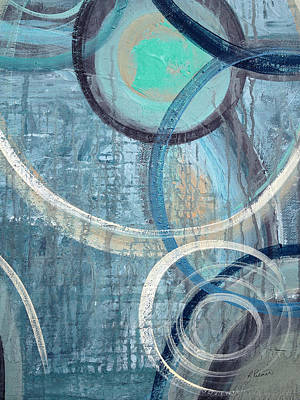Drips Painting - Silent Drizzle by Ruth Palmer
