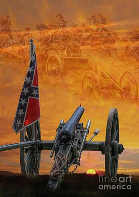 Artillery Digital Art - Silent Fields Of Gettysburg by Randy Steele