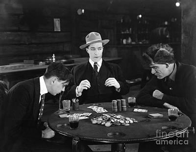 Photograph - Silent Film Still: Gambling by Granger