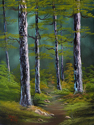 Steele Painting - Quiet Pines by Chris Steele