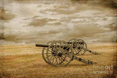 Silent Guns At Gettysburg Art Print by Randy Steele