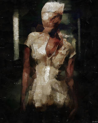 Silent Hill Nurse Art Print
