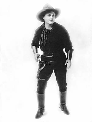 1918 Photograph - Silent Movie Cowboy by Underwood Archives