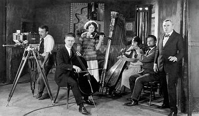 Photograph - Silent Movie Music Scene by Underwood Archives