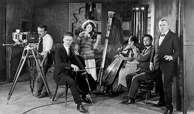 Omar Khayyam Photograph - Silent Movie Music Scene by Underwood Archives