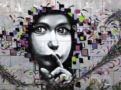 Photograph - Silent Must Be Heard - Graffiti by Daliana Pacuraru