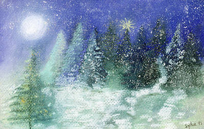 Silent Night Print by Sophia Elliot