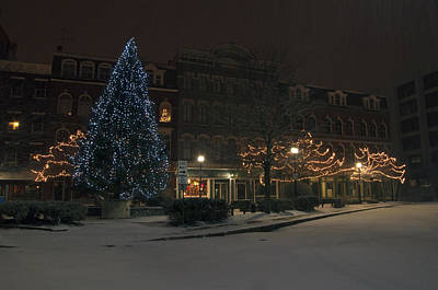 Photograph - Silent Night Bangor Maine by Glenn Gordon