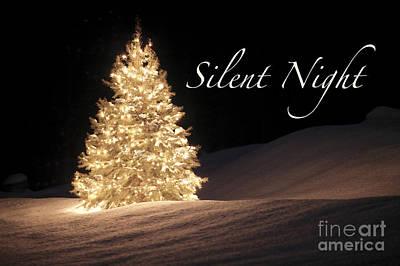 Maureen Digital Art - Silent Night Christmas Card by Maureen Tillman