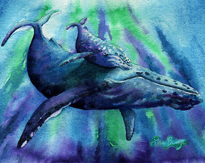 Humpback Whale Painting - Silent Night by Lisa Bunge