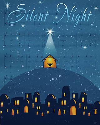 Nativity Painting - Silent Night by P.s. Art Studios