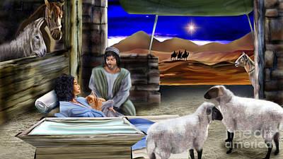 Nativity Painting - Silent Night by Reggie Duffie