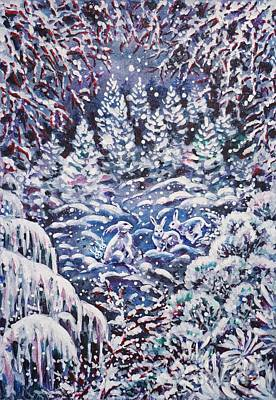 Painting - Silent Night by Zaira Dzhaubaeva