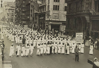 Silent Protest Parade In New York City Art Print