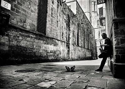 Artist Working Photograph - Silent Street by Gertjan Van Geerenstein