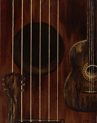 Wall Art - Painting - Silent Strings by Linda Wimberly
