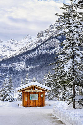 Lake Louise Photograph - Silent Winter by Evelina Kremsdorf