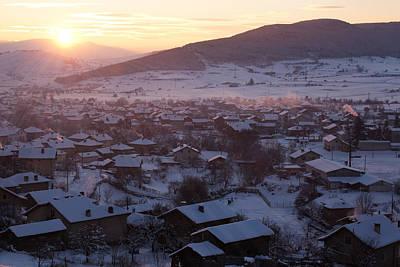 Photograph - Silent Winter Sunset  by Svetoslav Sokolov