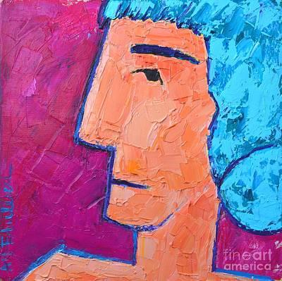 Vivid Colour Painting - Silent Woman by Ana Maria Edulescu
