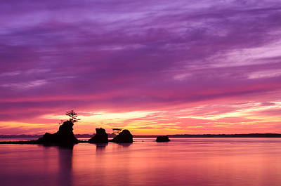 Siletz Bay And The Three Brothers Art Print