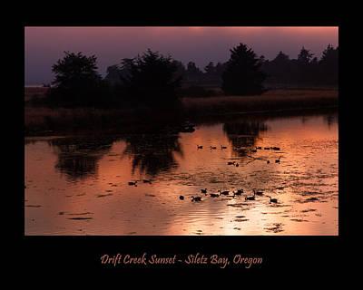 Photograph - Siletz Bay Sunset Poster by Kathleen Bishop