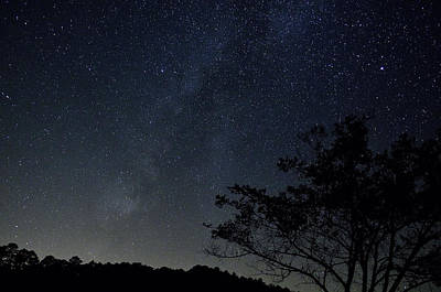 Appleton Photograph - Silhouette And Milky Way by Don Condley