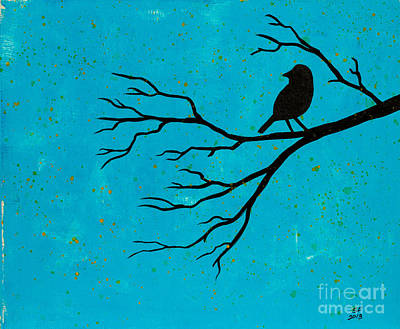 Silhouette Blue Art Print by Stefanie Forck