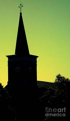Silhouette Church Print by JoNeL Art