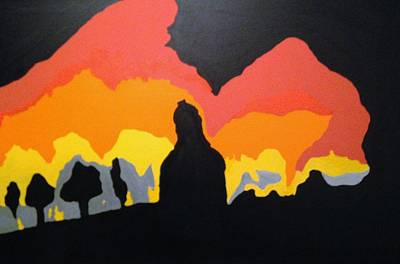 Painting - Silhouette by Erika Chamberlin
