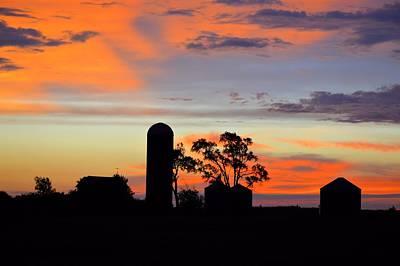 Photograph - Silhouette Farm by Bonfire Photography