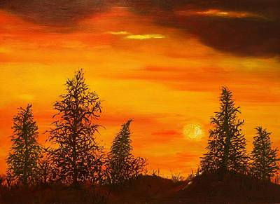Painting - Silhouette Forest by Rick Carbonell