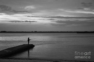 Photograph - Silhouette In Black And White by Bob Sample