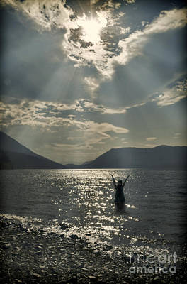 Photograph - Silhouette In Dramatic Light On The Lake by Jill Battaglia