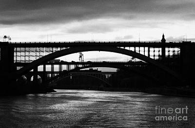 Silhouette In Evening Light Of Washington Heights Bridge Alexander Hamilton Bridge High Bridge Nyc Art Print by Joe Fox
