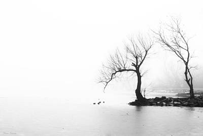 Photograph - Silhouette In Fog by Yvonne Emerson AKA RavenSoul