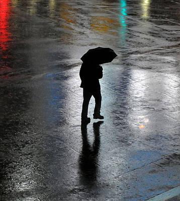 Photograph - Silhouette In Rain by Mark Sullivan