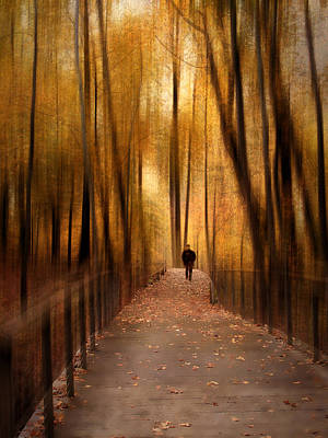 Golden Leaf Photograph - Silhouette In Solitude by Jessica Jenney