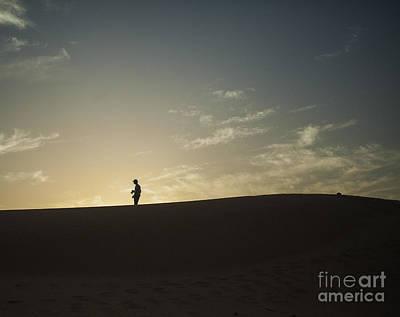 Silhouette In The Sahara Art Print by Patricia Hofmeester