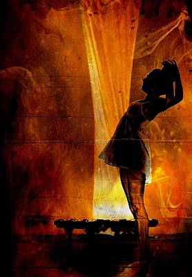 Digital Art - Silhouette Of A Beautiful Dancer by Carrie OBrien Sibley
