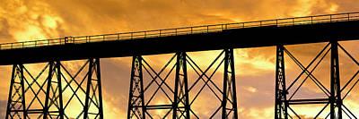 Gaviota Photograph - Silhouette Of A Railway Bridge by Panoramic Images
