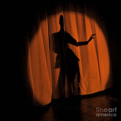 Art Print featuring the photograph Silhouette Of A Singer ... by Chuck Caramella