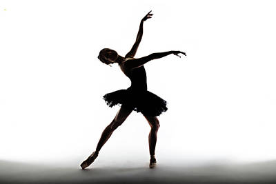 Photograph - Silhouette Of Ballet Dancer by Phil Payne Photography