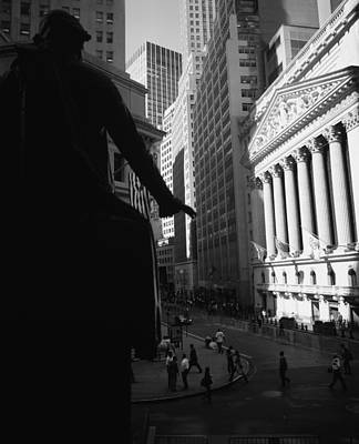 Finance Photograph - Silhouette Of George Washington Statue by Panoramic Images