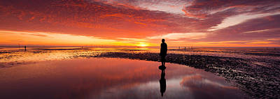 Crosby Photograph - Silhouette Of Human Sculpture by Panoramic Images