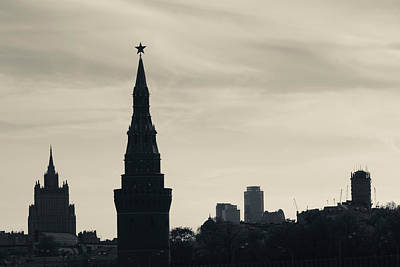 Moscow Photograph - Silhouette Of Kremlin Towers, Moscow by Panoramic Images