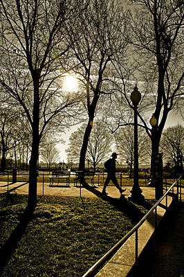 Photograph - Silhouette Of Man Out Walking by Celso Diniz