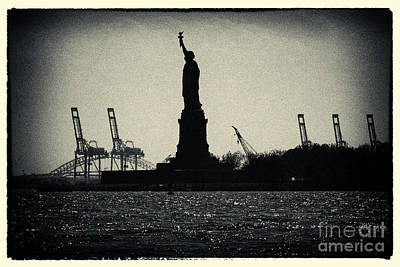 Silhouette Of Miss Liberty Art Print by Sabine Jacobs